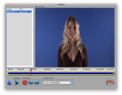 DVDxDV 2.0 imports DVD video into iMovie 11