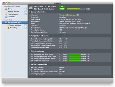 Beta of DiskRadar 1.0 for Mac OS X available