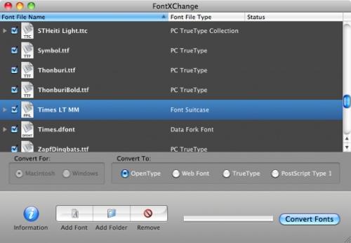 FontXChange 3.0 converts web fonts