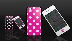 Polka Dot, Leopard/Zebra print case released for white iPhone 4