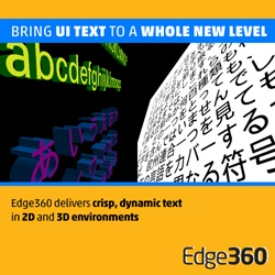 Monotype debuts Edge360 3D text rendering techonlogy