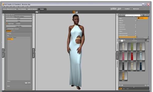 OptiTex, DAZ 3D release Mac version of Dynamic Clothing Engine