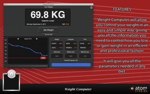 Atom Studios introduces Weight Computer 1.0 for Mac OS X