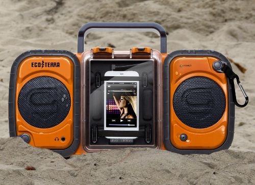 Eco Terra Boombox waterproofs your iPhone, iPod