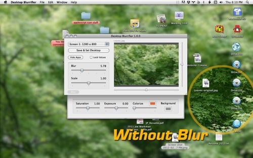Desktop Blurrifier 1.0 released for Mac OS X