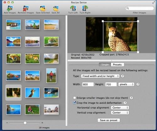 VeprIT Resize Sense is batch image resizer for OS X