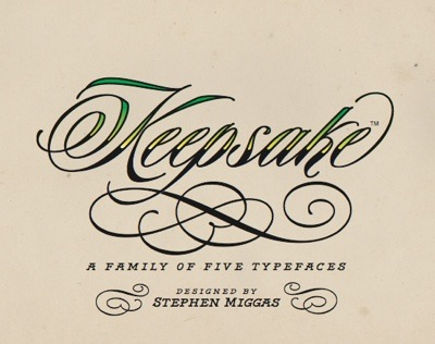Keepsake is new tattoo-inspired script font family