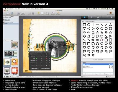 Chronos announces iScrapbook 4 for Mac OS X