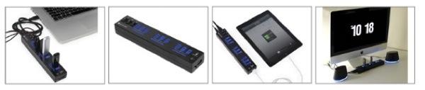 Satchi ships 10-port USB 3.0 hub