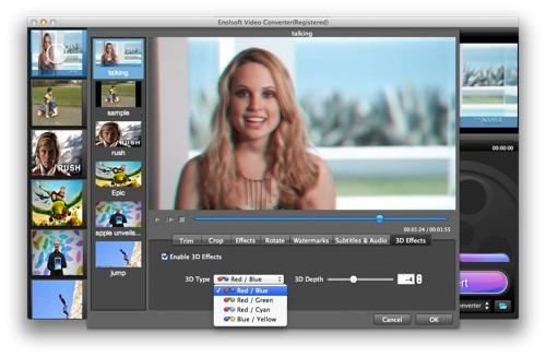 Enolsoft Video Converter for Mac gets new editing tools