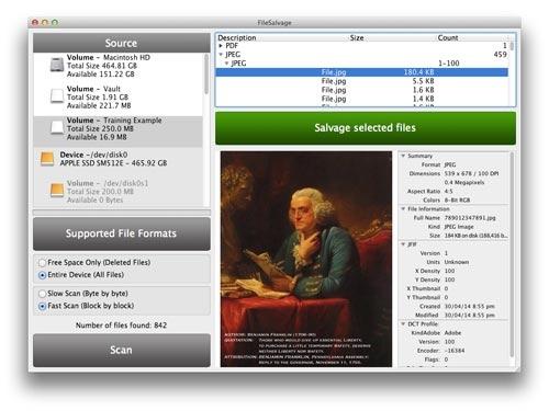 Kool Tools: FileSalvage 8 for Mac OS X