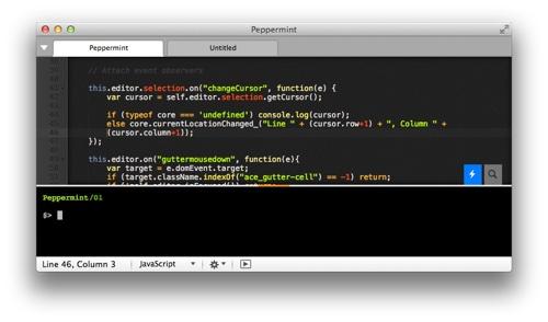 Kool Tools: Peppermint code editor for Mac OS X