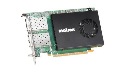 Matrox unveils X.mio5 Q25 SMPTE ST 2110 network c ard