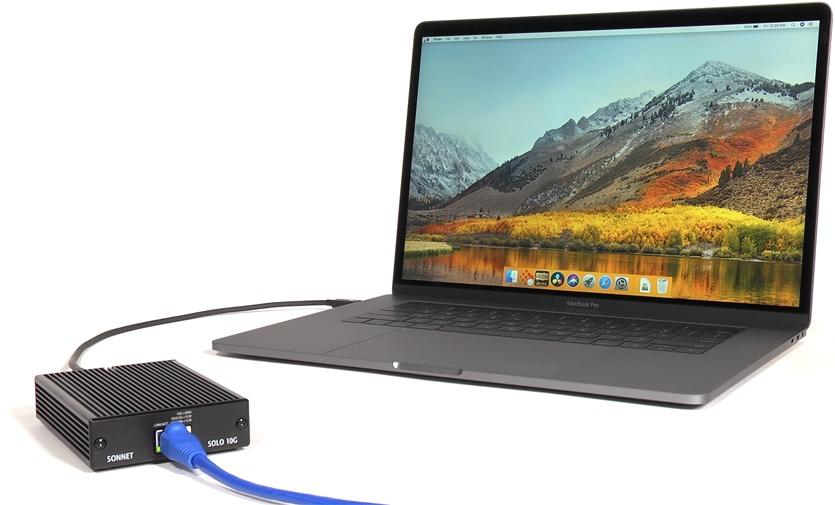 Sonnet announces Thunderbolt 3 to 10 Gigabit Ethernet adapter