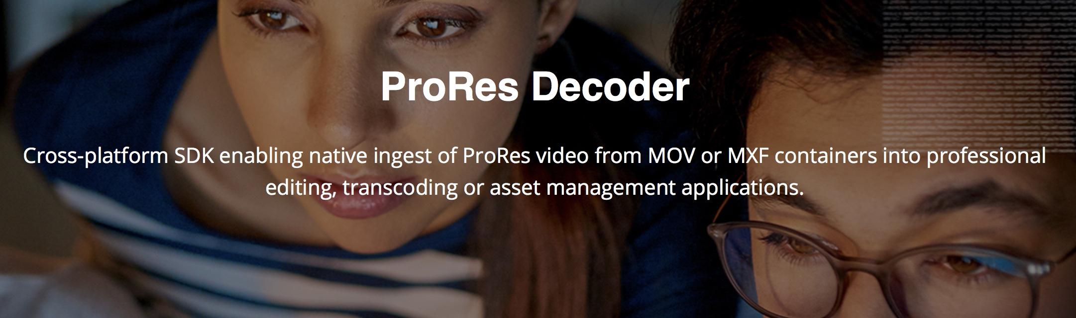 MainConcept announces multi-platform ProRes decoding SDK