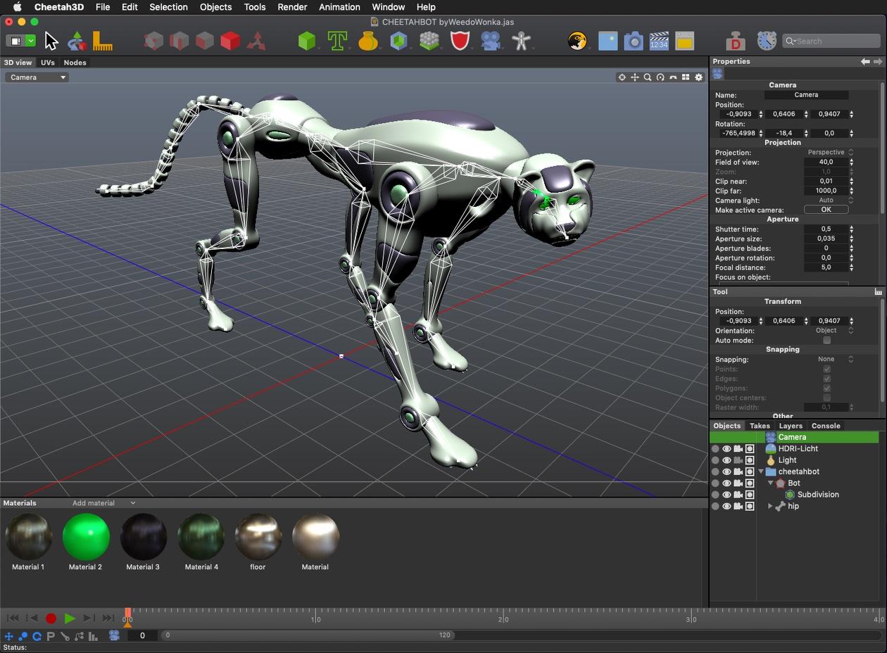 Cheetah3D 7.3 adds Dark Mode, glTF, PBR materials, caustics, more