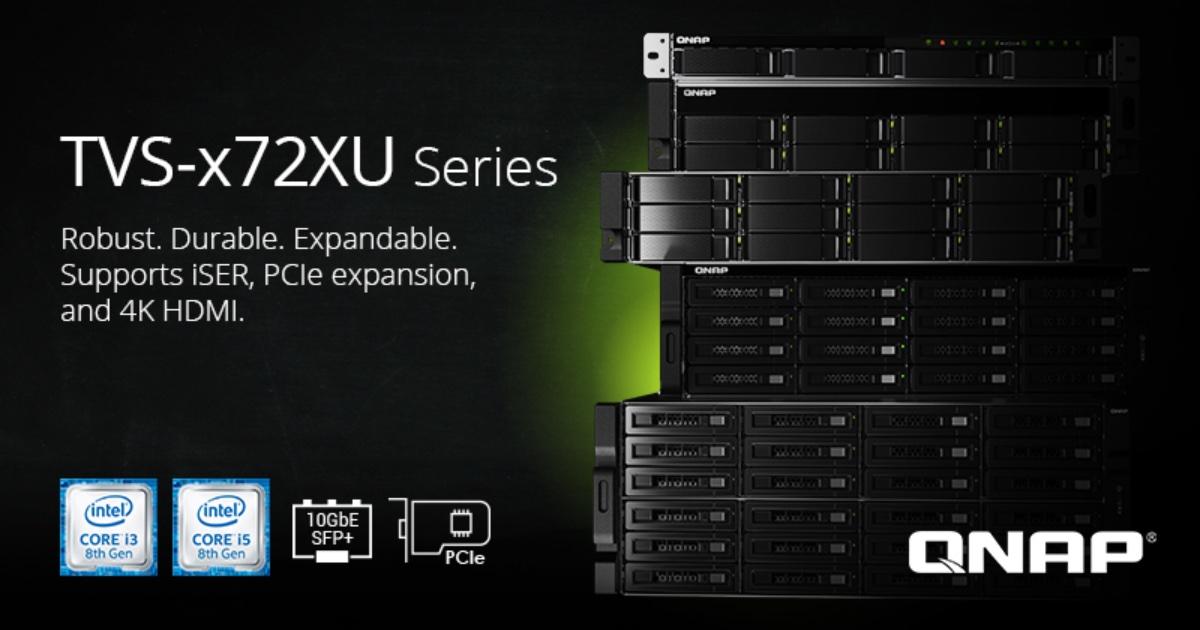 Kool Tools: QNAP Rackmount TVS-x72XU NAS series