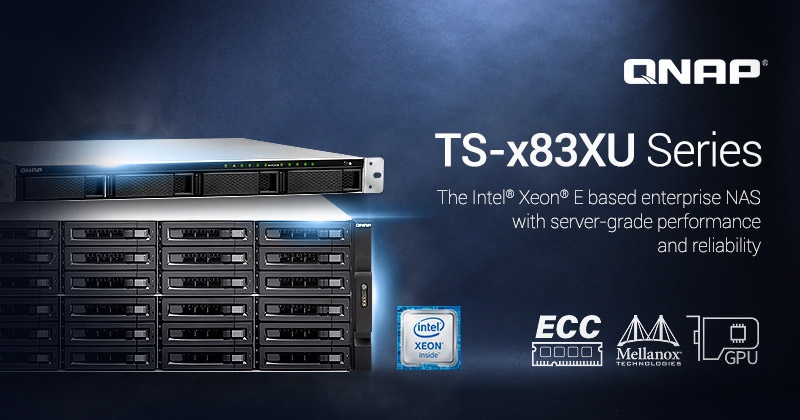 QNAP Launches the server-grade TS-x83XU NAS series