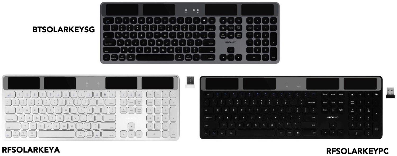 Kool Tools: Macally's solar powered wireless keyboards