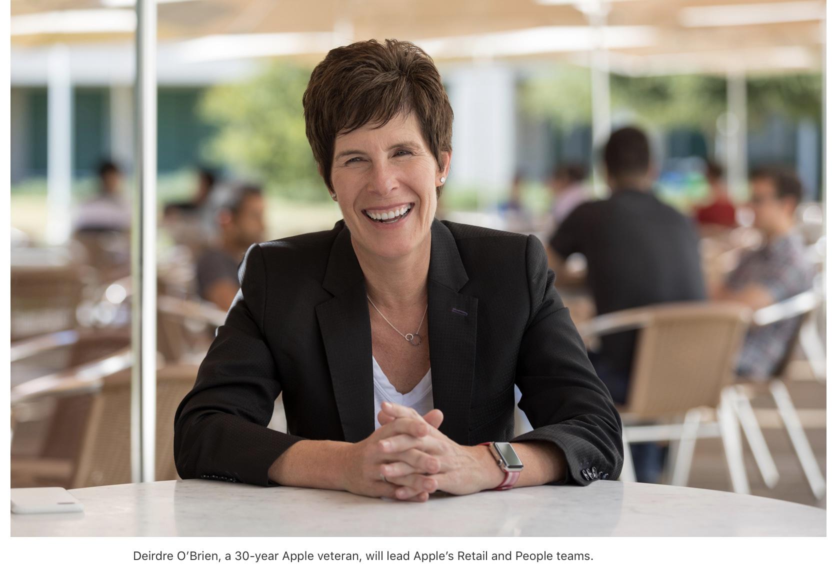 Apple names Deirdre O'Brien senior VP of Retail + People
