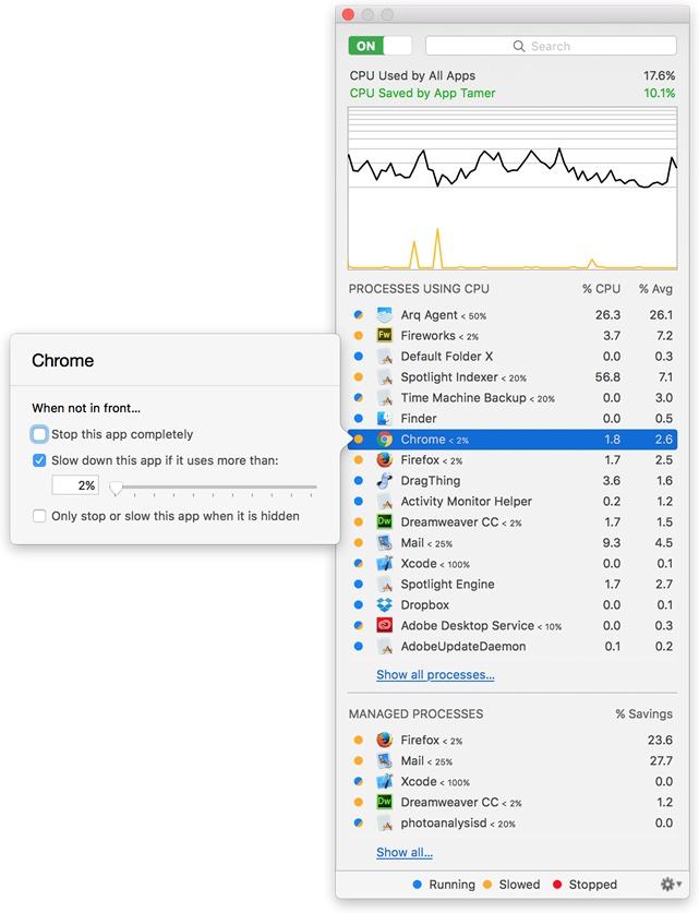 App Tamer for macOS revved to version 2.4.3