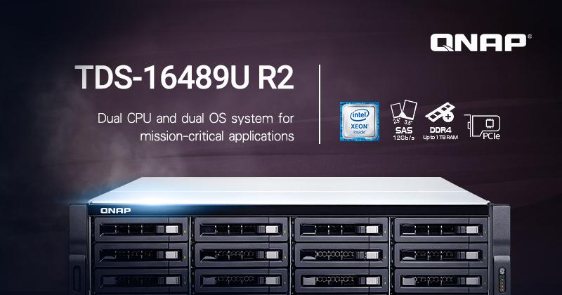 QNAP launches TDS-16489U R2 NAS