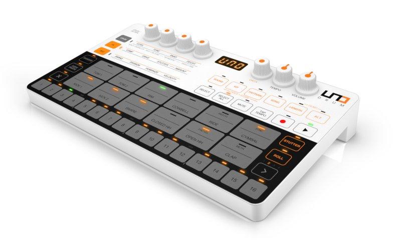IK Multimedia's UNO Drum analog/PCM drum machine is available