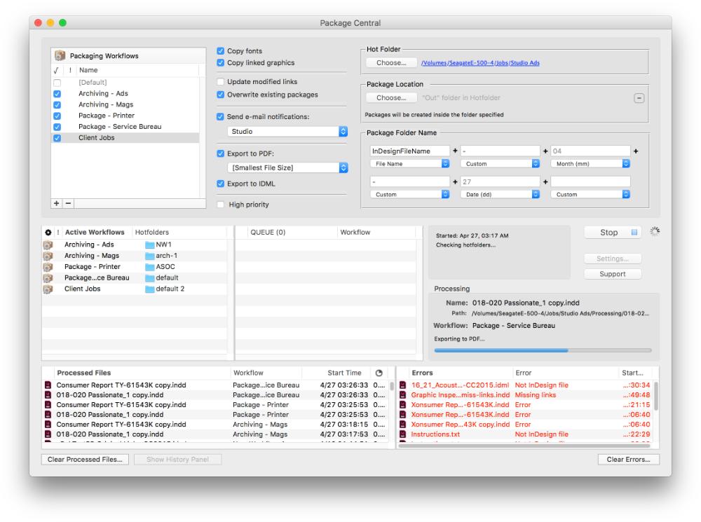 Package Central for Adobe InDesign update improves multiple versions handling