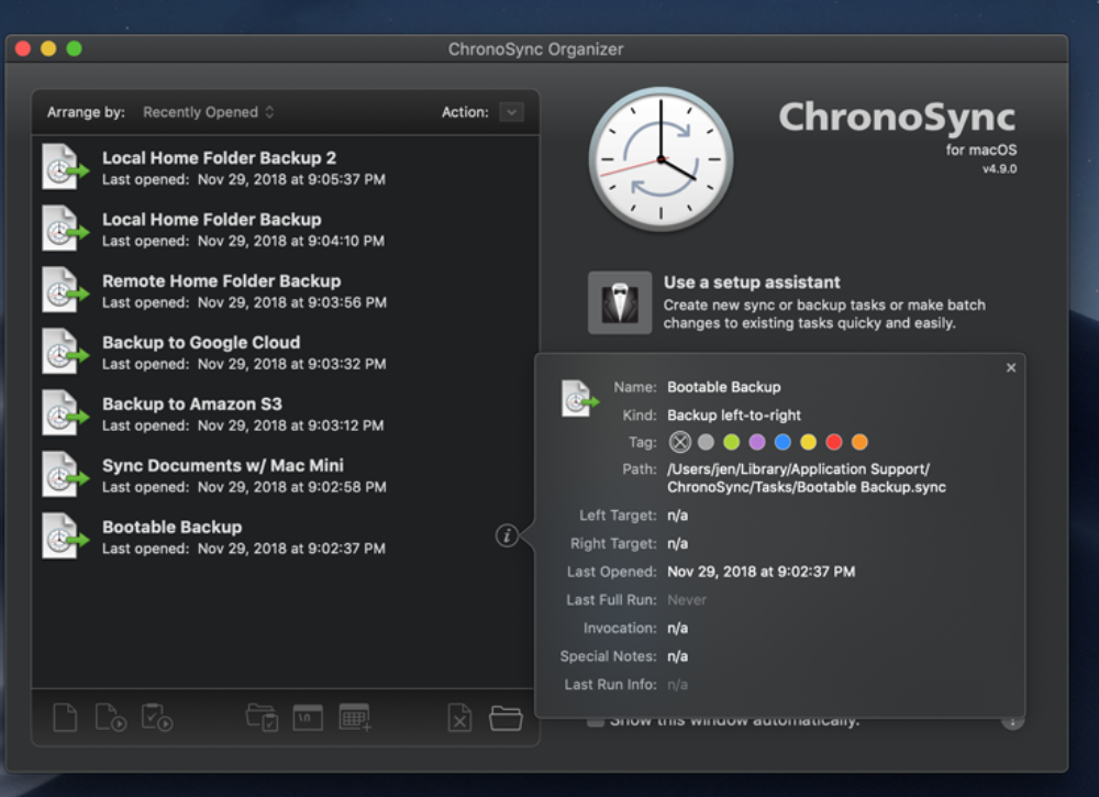 ChronoSync 4.9.9 ads improved Google Cloud authentication