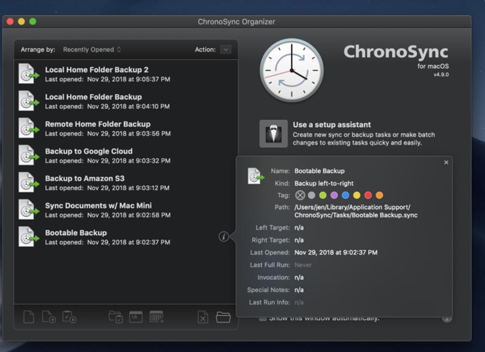 ChronoSync 4.9.9 ads improved Google Cloud authentication