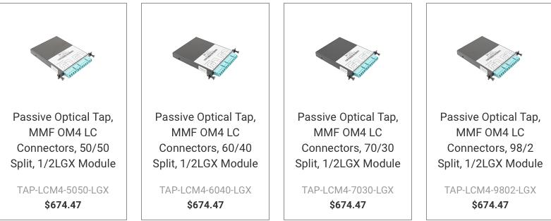 L-com launches line of passive optical fiber taps