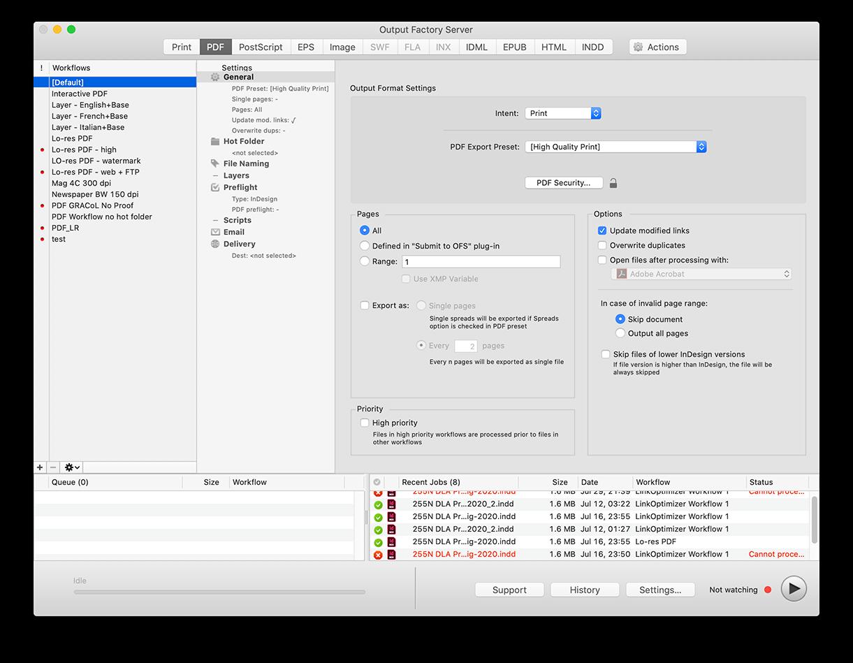 LinkOptimizer Server for InDesign released for public beta testers