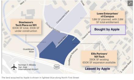 Homeless folks have set up encampments on Apple's unused-for-now San Jose property