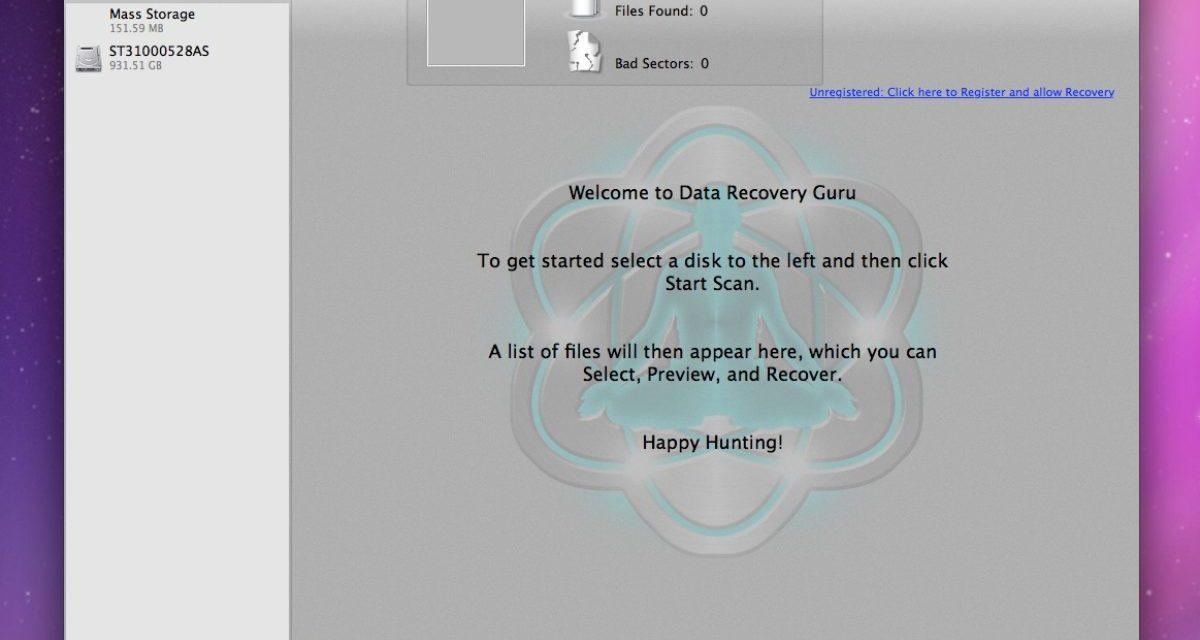 Mac Data Recovery Guru can help you 'resurrect' lost files