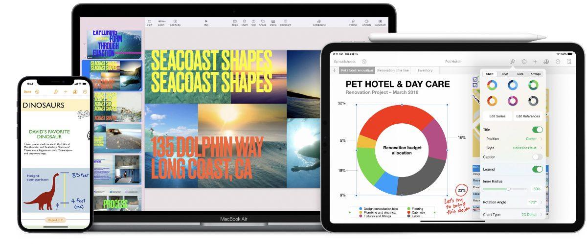 Apple updates Pages, Numbers, Keynote for macOS Monterey, iPadOS 15, iOS15